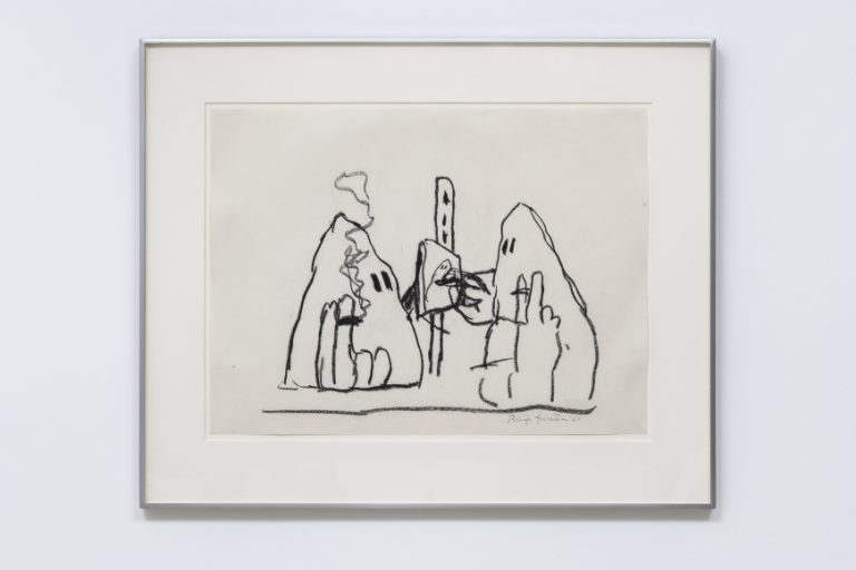 Philip Guston, Untitled, 1969, charcoal on paper, 18 x 24 in (45.7 x 61 cm)© Philip Guston, image courtesy of a Private Collection, UK, photography courtesy of Damian Griffiths