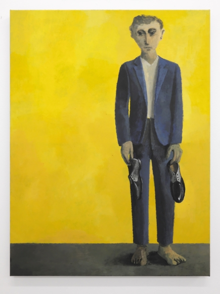 Lenz Geerk, Barefoot Man, 2019, acrylic on canvas, 31.5 x 23.6 in (80 x 60 cm)© Lenz Geerk, image courtesy of the artist and Roberts Projects, Los Angeles, CA