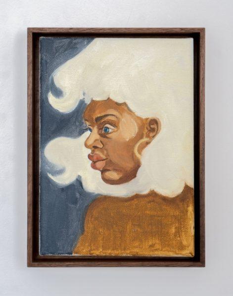 Somaya Critchlow, Toochka, 2018, oil on canvas, 9 x 6.7in.(22.8 x 17cm.)© Somaya Critchlow, image courtesy of Maximillian William