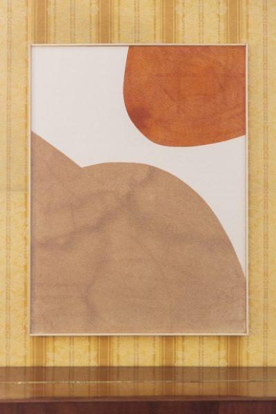 Magda Skupinska, Dune, 2016, chilli and rosehip powder on canvas, 110 x 150 cm© Magda Skupinska, image courtesy of Maximillian William