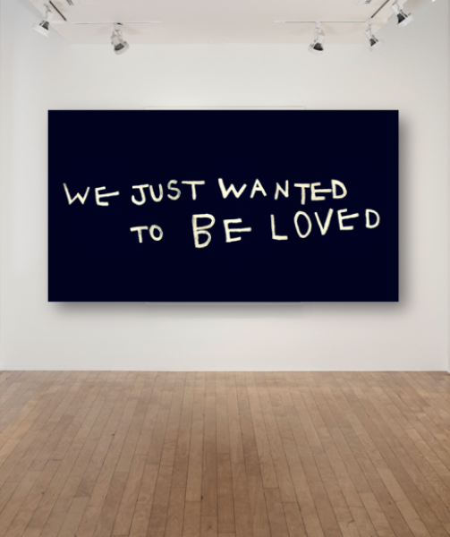 Coco Capitán, We Just Wanted To Be Loved, 2018, Mixed Media on canvas, 55.9 x 95.2in. (142 x 242cm.)© Coco Capitán, image courtesy of Maximillian William