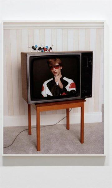 Coco Capitán, Benno on TV II, 2017, C-type Print, 36.6 x 28.3in. (93 x 72cm.)© Coco Capitán, image courtesy of Maximillian William