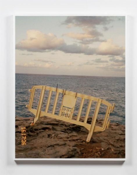 Coco Capitán, Fencing On The Ocean, 2015, hand printed c-type print, 33 x 22.8in. (84x 58cm.)© Coco Capitán, image courtesy of Maximillian William