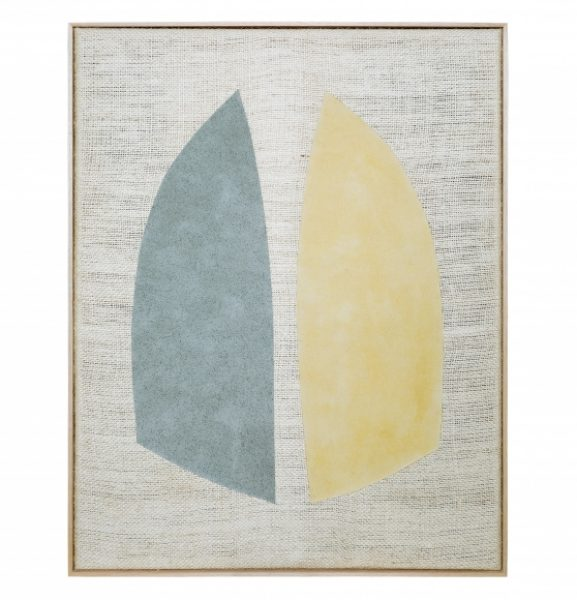 Magda Skupinska, Hope, 2018, blue and yellow corn on canvas, 52.9 x 41.1in. (134.5 x 104.5cm.)© Magda Skupinska, image courtesy of Maximillian William