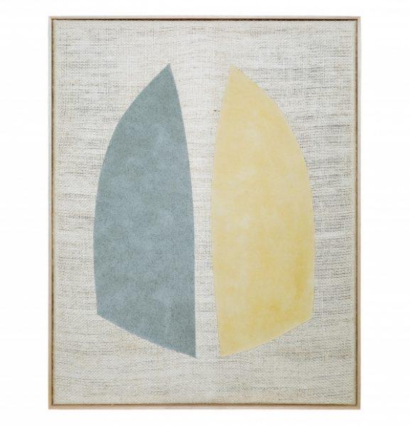 Magda Skupinska, Hope, 2018, blue and yellow corn on canvas, 52.9 x 41.1in. (134.5 x 104.5cm.)© Magda Skupinska, image courtesy of Maximillian William