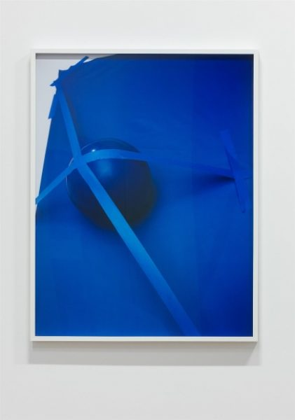 Coco Capitán, Attaching a Ball to a Wall, 2016, C-type print, 36.6 x 28.3in. (93 x 72cm.)© Coco Capitán, image courtesy of Maximillian William