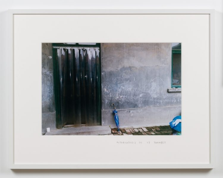 Coco Capitán, Alternatives to Cy Twombly, c. 2012, C-type print, 11.8 x 17.7in. (30 x 45cm.)© Coco Capitán, image courtesy of Maximillian William
