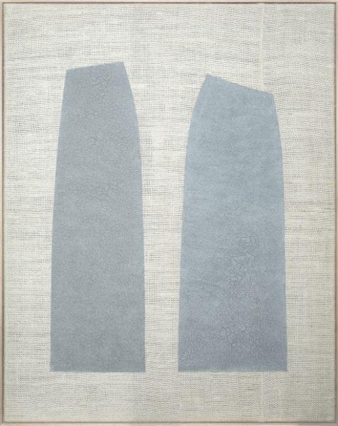 Magda Skupinska, Idem, 2018, blue corn on canvas, 72.6 x 56.8in. (184.5 x 144.5cm.)© Magda Skupinska, image courtesy of Maximillian William