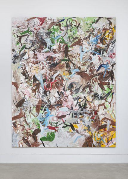 Reginald Sylvester II, Survival Through Wisdom Amongst Deprivation, 2019, acrylic on canvas, 94.4 x 75.3 (240 x 191.5 cm)© Reginald Sylvester II, image courtesy of Maximillian William, photography courtesy of Damian Griffiths