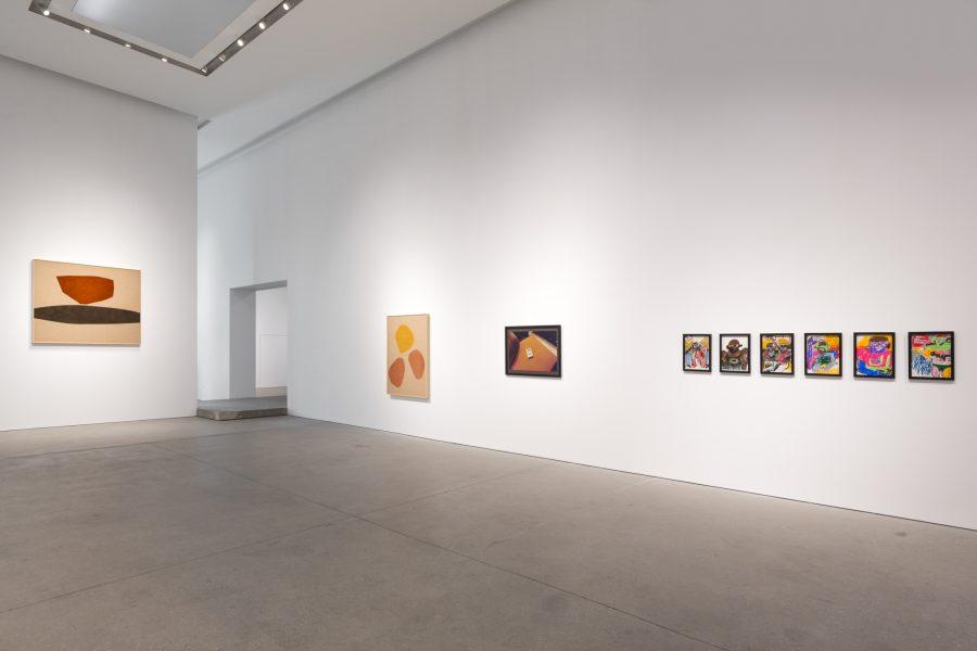 Installation View: Reginald Sylvester II, Magda Skupinska, and Coco Capitán, Surface Issues, Leila Heller Gallery, Dubai© the respective artists, image courtesy of Leila Heller Gallery, Dubai