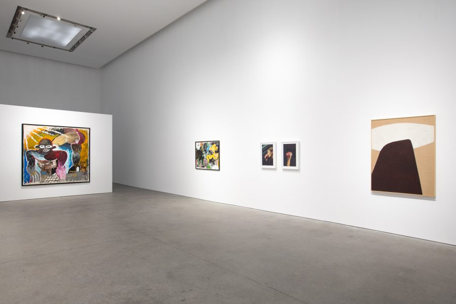 Installation View: Reginald Sylvester II, Magda Skupinska, and Coco Capitán, Surface Issues, Leila Heller Gallery, Dubai© the respective artists, image courtesy of Leila Heller Gallery, Dubai