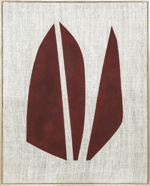 Magda Skupinska, Bloom, 2018, paprika on canvas, 41.1 x 33.2in. (104.5 x 84.5cm.)© Magda Skupinska, image courtesy of Maximillian William