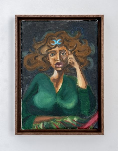 Somaya Critchlow, Etruscan Miniature, 2018, Oil on canvas, 9 x 6.7in. (22.8 x 17cm.)© Somaya Critchlow, image courtesy of Maximillian William