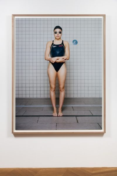 Coco Capitán, Swimmer with Crossed Arms, 2018, C-type Print, 70.8 x 55.1in. (180 x 140cm.)© Coco Capitán, image courtesy of Maximillian William