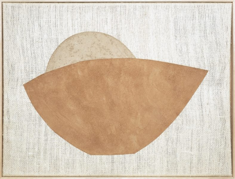 Magda Skupinska, Cuenco, 2018, banana flour and lucuma on canvas, 52.9 x 41.1in (134.5 x 104.5cm.) © Magda Skupinska, image courtesy of Maximillian William