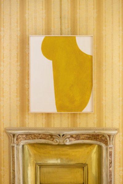Magda Skupinska, Golden Cloud, 2016, beeswax on canvas, 80 x 100 cm; © Magda Skupinska© Magda Skupinska, image courtesy of Maximillian William